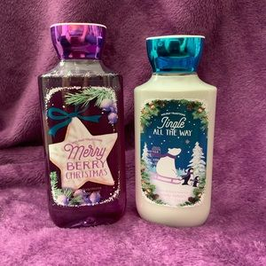 Bath and Body Works Christmas Shower gel & lotion